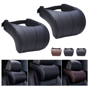 PU Leather Auto Car Neck Pillow