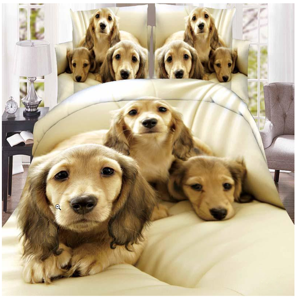 3D Dogs Bedding Cover