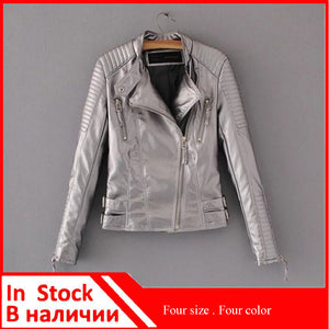 Women Slim Leather Jacket