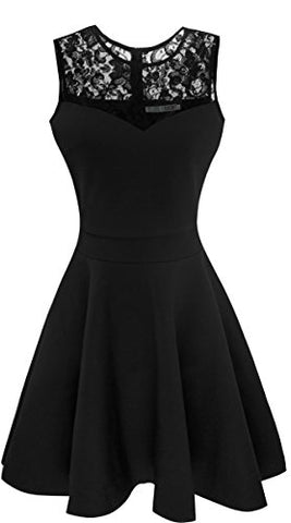 A-Line Pleated Sleeveless Little Dress - Liked Buy