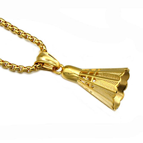 Sports Pendant Badminton Necklace