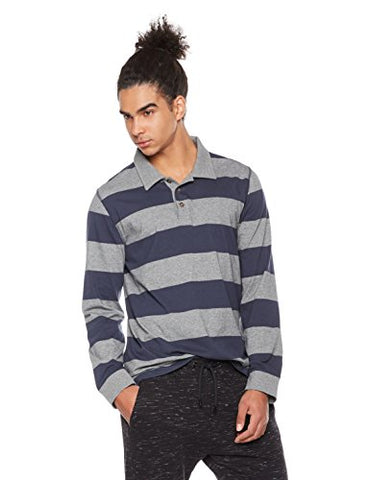 Long Sleeve Stripe Rugby Polo Shirt