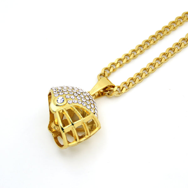 Baseball Helmet Pendant Necklace - Liked Buy