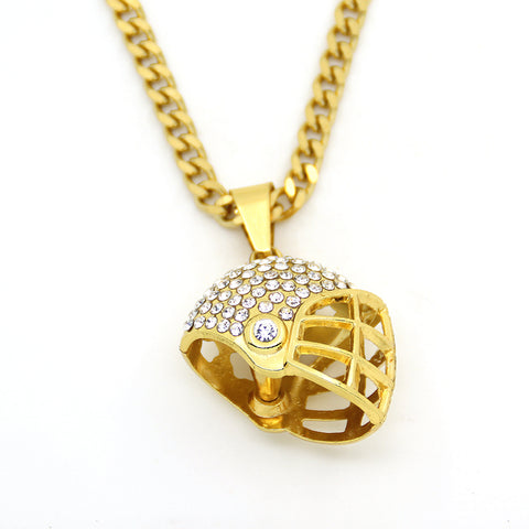 Baseball Helmet Pendant Necklace