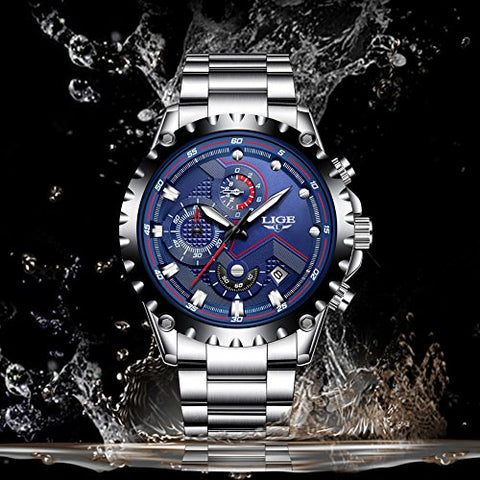 Stainless Steel Chronograph Waterproof Watch