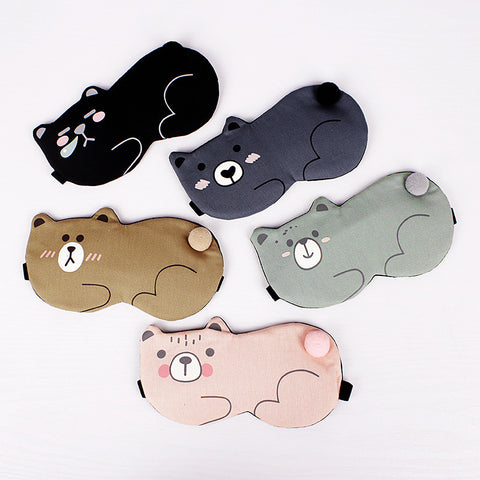 Cartoon Bear Pattern Sleep Eye Mask - Liked Buy