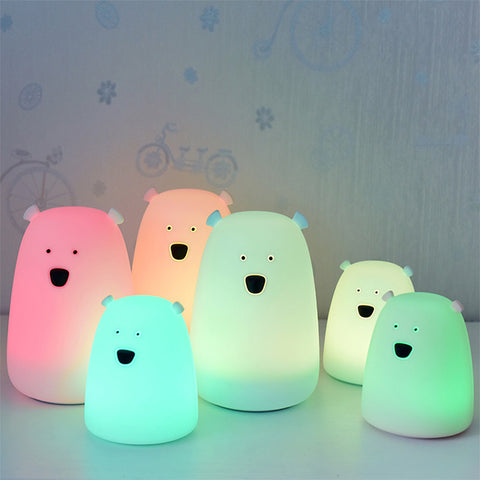 Colorful Bear Silicone LED Night Light - Liked Buy