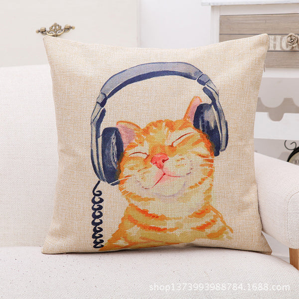 Cat Decorative Cushion Cover - Liked Buy