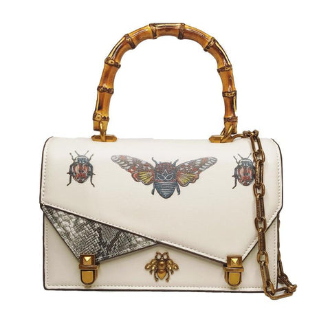 Bee Printed  PU Leather Handbag - Liked Buy