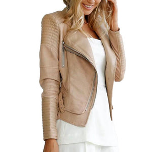 Faux PU leather jacket