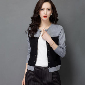 Slim Double Breasted Cardigan