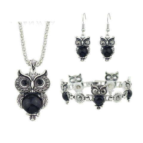 Owl Ethnic Zinc Alloy Jewelry Sets