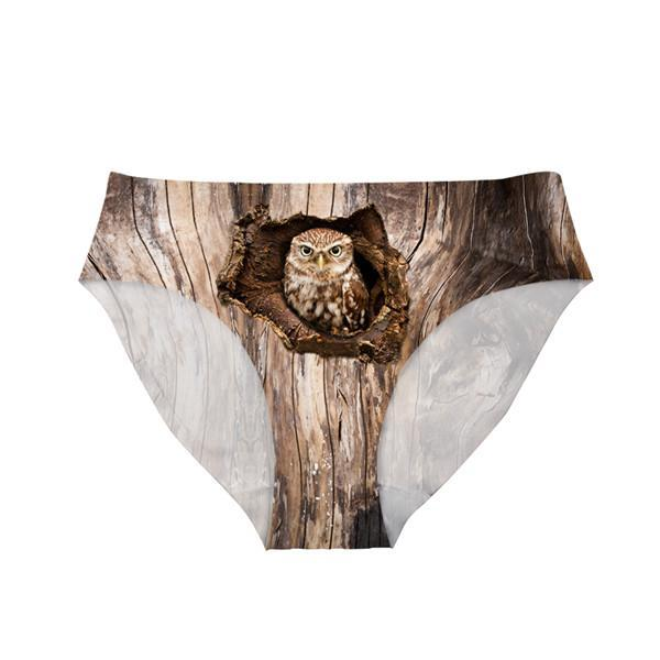 3D Sexy Animal Owl Printed Panties - Liked Buy