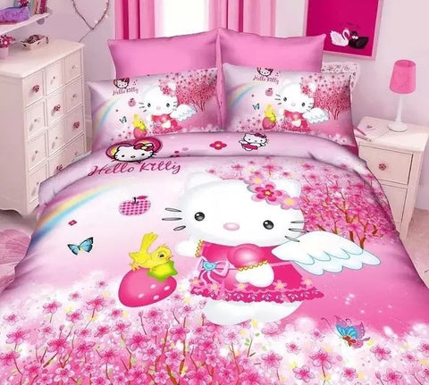 Children's Cartoon Double Bed Cover