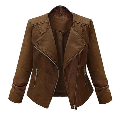 Rider Faux Leather Jacket