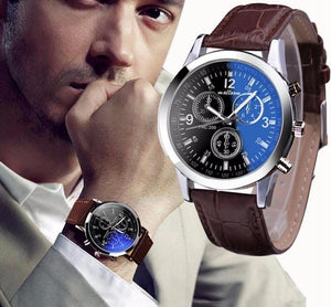 Roman Numerals Blue Ray Glass Watches