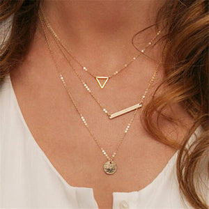 Alloy mental nice geometry necklace - Liked Buy
