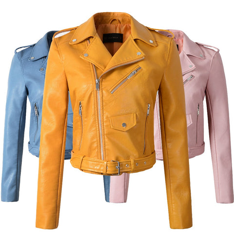 Slim PU Leather Jackets