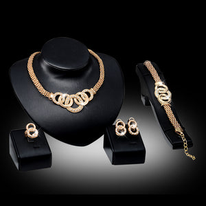 Braid Pattern Elegant Luxury Jewelry Set - Liked Buy
