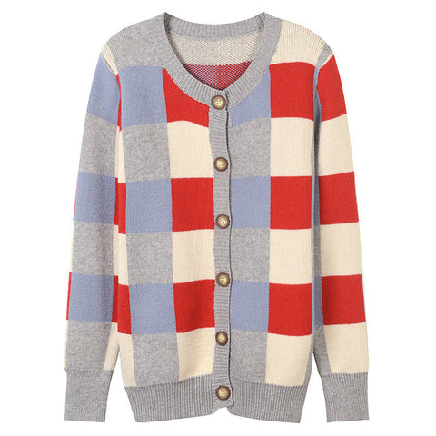 High Quality Striped Knit Cardigans