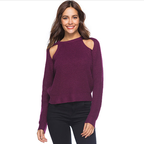 Sexy strapless women's sweater