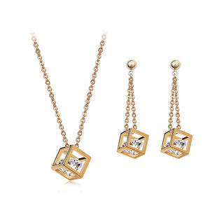 Zircon Crystals Jewelry Set