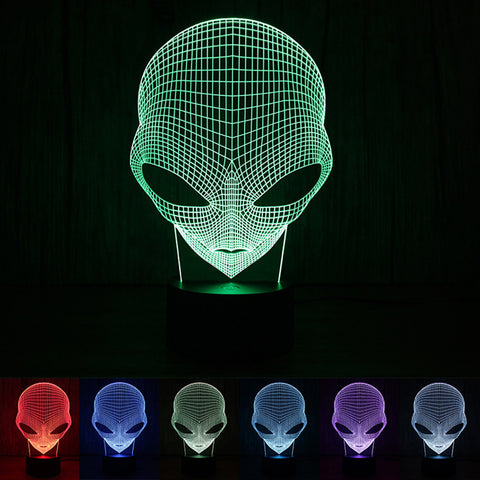 3D Cartoon Alien Shape LED Table Lamp - Liked Buy
