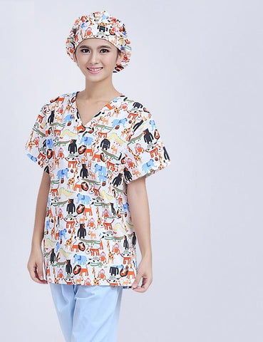 Cotton Short Sleeve Scrubs Uniform - Liked Buy