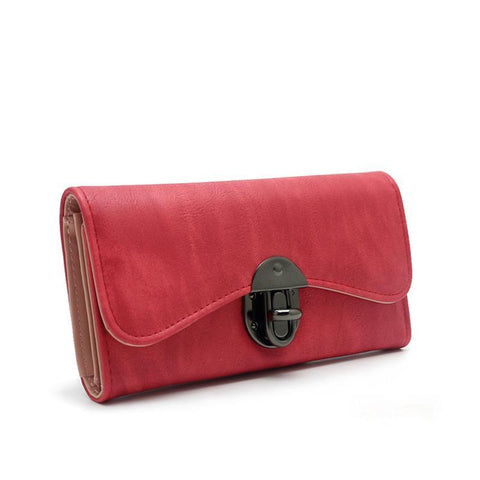 Women PU Leather Long Wallet