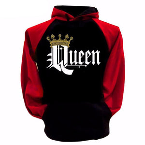 King Queen Printed Fleece Sweatshirt