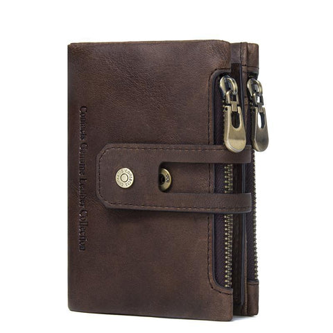 Small Genuine Leather Men Wallet