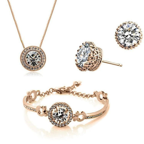 New Fashion Austrian Crystal Jewelry Set