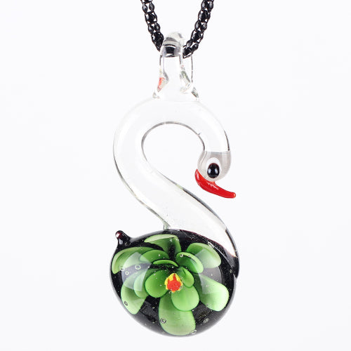 Swan Charm Collar Necklace