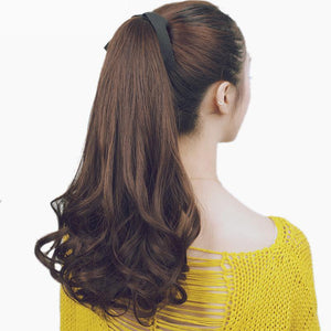Long Wavy  Ponytail Wigs Hair Extension