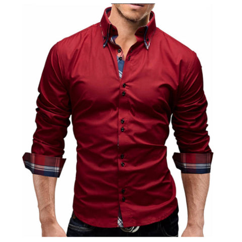 Men'S Slim Fit Long Sleeves Shirt