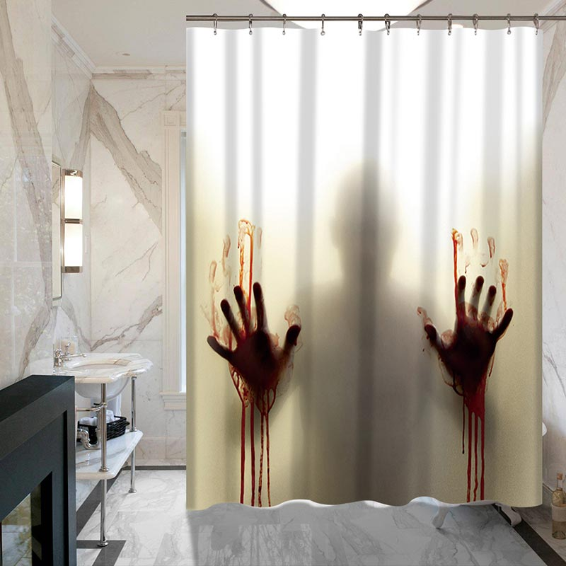 Bloody Hands Bathroom Shower Curtain
