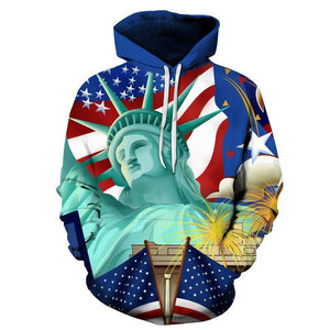 US Culture Printed 3D Men Sweatshirts