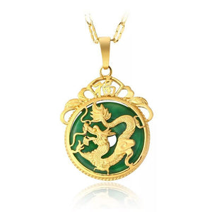 Ancient Mascot Dragon Pendant Necklace