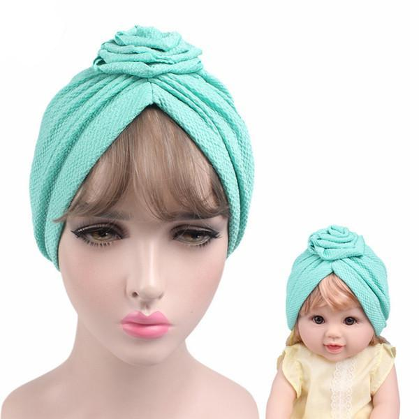Baby And Mom Rose Flower Turban Headbands - Liked Buy