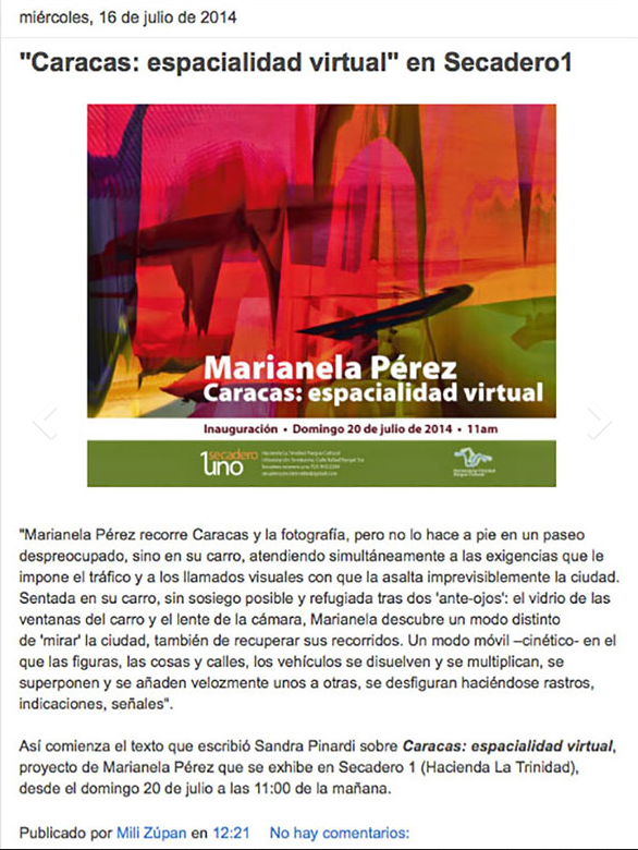 Caracas- Espacialidad Virtual