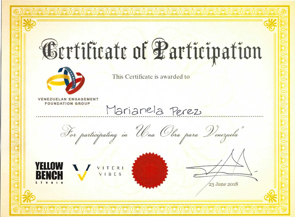 Certificate of Participation