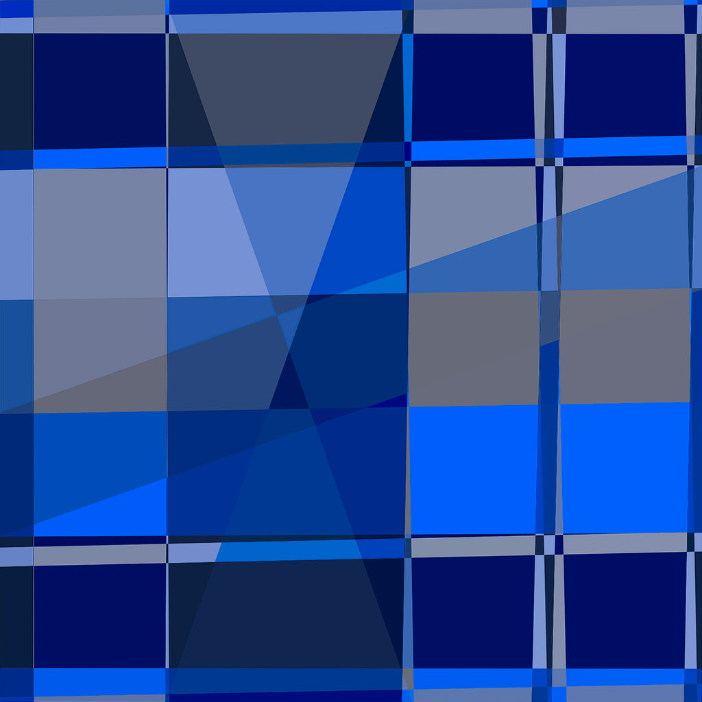 Blue Shade Mondrian
