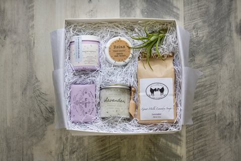 Lavender Gift Box, Richmond Made Gift Box, Handmade Gifts, Curated Gift Box