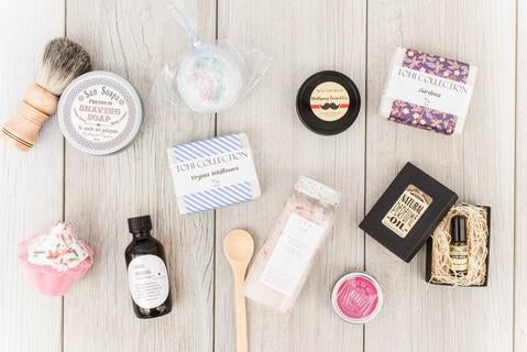 spa gifts, locally made gifts, curated gift box