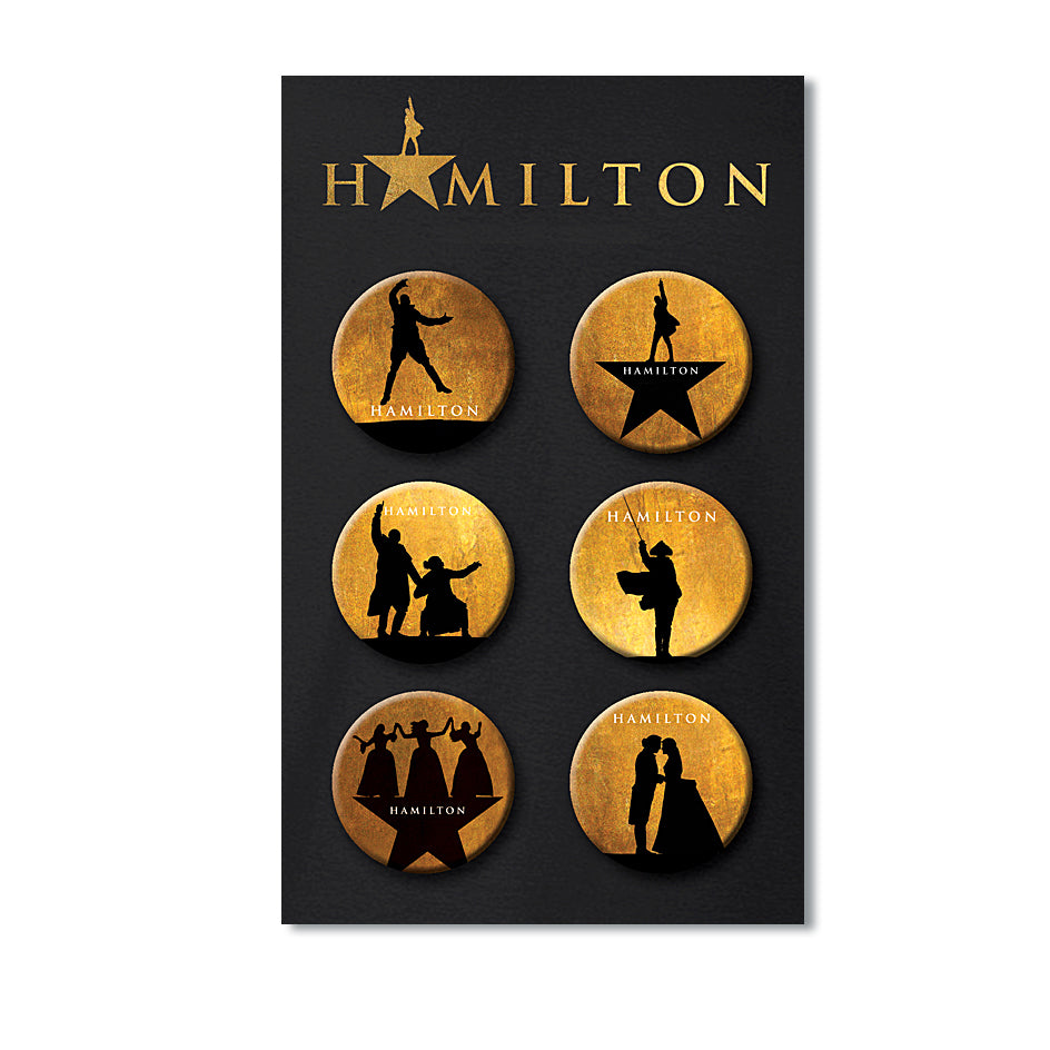 HAMILTON Pin Badge Set