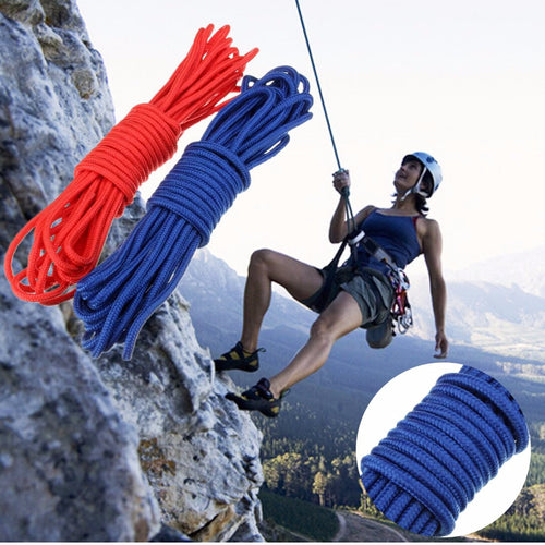 10M 32.8FT Lifeline Climbing Rope Outdoor Color Escape Rope Fashion Practical