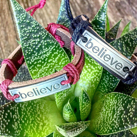 Believe Bracelet ~ Genuine Leather