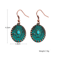 Vintage Patina Oval Earrings