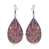 Glitter Water Drop Earrings