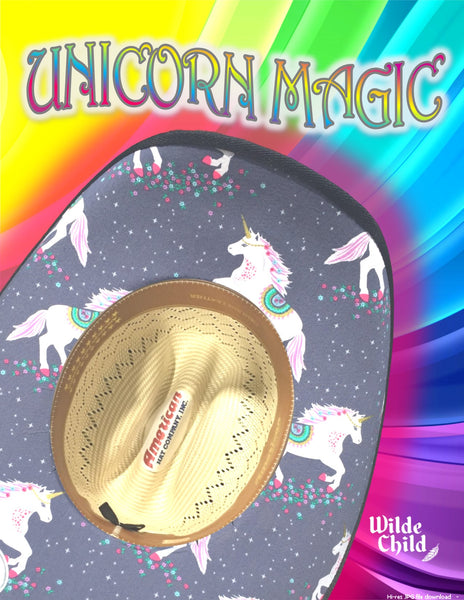 Unicorn Magic Bold Brim Print